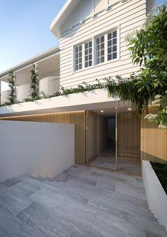 Minimalist House Design, Minimalist Home, Weatherboard House, Queenslander House, Residential Architecture, Brisbane Architecture, Australian Architecture, Hamptons House, Facade House