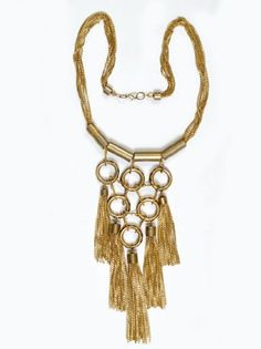 "JousJous Gold Nights on the Nile Handmade Necklace, 32"" Long"