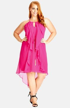 City Chic 'Waterfall Frill' Dress (Plus Size) available at #Nordstrom