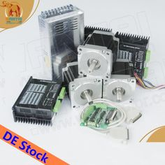 199.00$  Watch here - http://aliuzs.shopchina.info/1/go.php?t=1165660617 - Ship From DE! Wantai 3 Axis Nema23 Stepper Motor 57BYGH627 3A 78mm 270oz-in+Driver DQ542MA 4.2A 50V 128micro  #magazineonlinewebsite