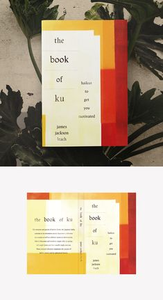 Minimalist book cover design for a collection of motivational haikus geared toward entrepreneurs. Large watercolor swatches wrap from front to back, balancing out the unexpected typography arrangement. Design by nevergohungry. Logo Design, Graphic Design, Watercolor Design, Watercolor Techniques, Book Cover Design, Haiku, Cover Art, The Book, Swatch
