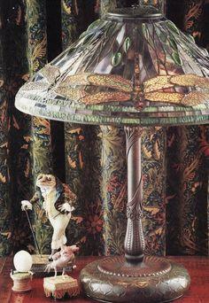 pretty lamp and little keepsakes
