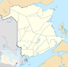 File:Canada New Brunswick location map New Brunswick Canada, Saint Quentin, Major Crimes, Kent County, Marriage Records, Location Map, Ancestry, Genealogy