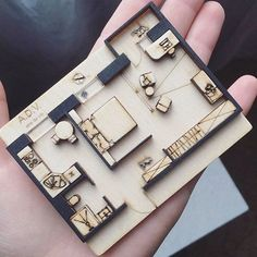 Amazing plan mini model by ⤵ Tag to share your works - image for you Maquette Architecture, Architecture Drawings, Interior Architecture, Architecture Plan, Scale Model Architecture, Amazing Architecture, Portfolio D'architecture, Portfolio Examples, Planer Layout