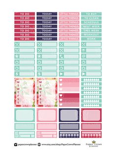 BE YOU Weekly Planner Sticker Kit/Erin by PaperCrownPlanner