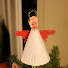 Toddler Approved!: Christmas cute paper plate angel