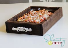 LOVE this casserole tray/trivet from Shanty 2 Chic