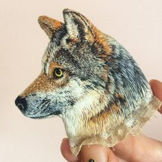 I've been working on it for a last few months. Finally it's ready! 😛 #wolf #greywolf #embroidery #embroideryart #embroiderydesign…
