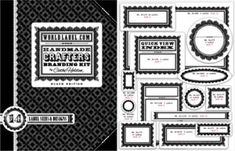 Free Downloadable labels. Includes address one. Many color sets to choose from! Instructions provided.