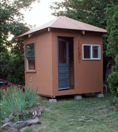 An 8x8 hut for the homeless. One of the many shelter designs at Opportunity Village in Eugene Oregon.