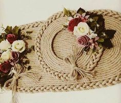 Cd Crafts, Jute Crafts, Diy Home Decor Projects, Projects To Try, Sisal, Rope Decor, Twine, Decorative Items, Needlework