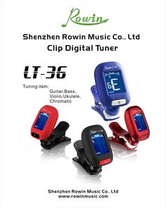 Tuner, LT-36 An instrument accessories manufacturer with 7+ years, you are welcome to meet us at NAMM, Music China and Frankfurt Music Messe. You can reach me at sales4@rowinmusic.com