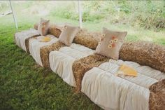 Atmosphere - Country Chic Cocktail Area Including Hay Bales & Chair Seating