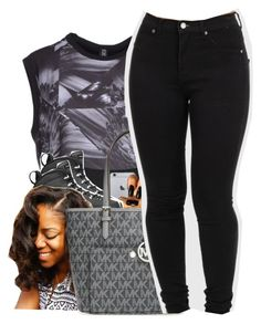 """""""Fetty Wap X D.A.M"""" by uniquee-beauty ❤ liked on Polyvore featuring Easy2dress, Retrò, Bantu and MICHAEL Michael Kors"""