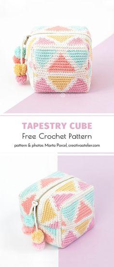 Crochet Pencil Case, Crochet Pouch, Crochet Purses, Crochet Gifts, Diy Crochet, Crochet Stitches, Crochet Patterns, Modern Crochet, Tapestry Crochet