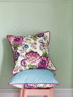 Reversible floral and polka dot cushions from At Home With Ashley Thomas #matchmade