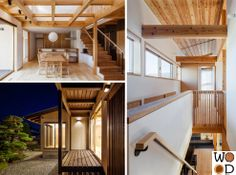 Nagano Japan, House Studio, Wooden Houses, Architect House, Woody, Architects, Stairs, Ceiling, Diy