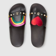 b17a24d6c35c Gucci Official Site – Redefining modern luxury fashion. Slide SandalsFlat  SandalsShoes ...