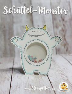 stampin up Schüttelkarte shaker card monster yummy in my tummy stampin up 2017 occasions frühjahr sommerkatalog Schüttelmonster