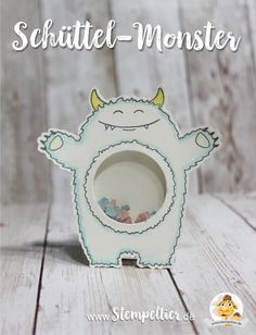 stampin up Schüttelkarte shaker card monster yummy in my tummy stampin up 2017 occasions frühjahr sommerkatalog