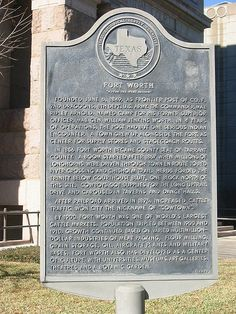 "Fort Worth ""Where the West Begins"""