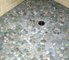 Stone Tile Floor For Shower Nice Complement To Flagstone Floors In Bedroom