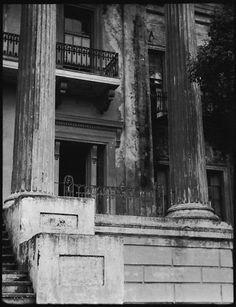 [Porch of Belle Grove Plantation, White Castle, Louisiana]