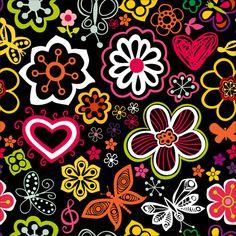 Set of Flower Pattern vector art 02