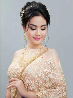 Khmer Wedding, Wedding Costumes, Saree Styles, Beautiful Asian Girls, Traditional Wedding, Asian Beauty, Saree Fashion, Bride, Elegant