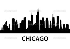 MURAL!chicago skyline outline - Google Search