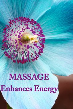 Massage enhances energy