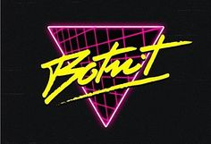 If you like retro logos with light effects that screen the you going to love this post. It's an overview of some of the inspired logos done by Italian designers Alessandro Strikner and Overglow. 80s Logo, Neon Logo, Retro Font, Retro Logos, Designers Italianos, 80s Neon, 80s Design, Graphic Design, Grafiti
