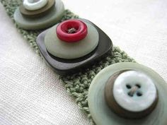 Crochet Button Bracelet by Flickr's incywincystitches