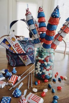 Fourth Of July Crafts For Kids, Fourth Of July Decor, 4th Of July Celebration, 4th Of July Decorations, 4th Of July Party, July 4th, Holiday Crafts, Holiday Fun, Holiday Foods