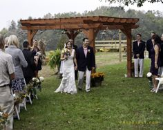 Our pergolas are rustic or chic at Fairview Farm...you get to pick your special location.