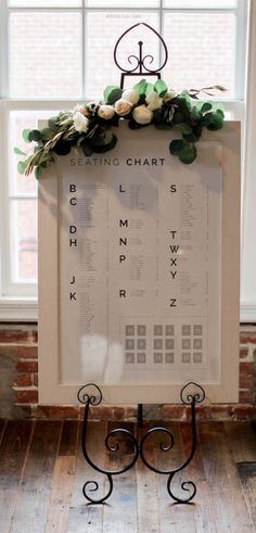 Featured Photographer: Esther Sun; wedding reception seating chart