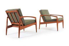 Kai Kristiansen 'Paperknife' Armchairs - Mr. Bigglesworthy Designer Vintage Furniture Gallery