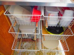 Tupperware cupboard all sorted thanks to Rodney and some drawer runners!