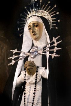 allaboutmary:    María Santísima de los Siete Dolores  The statue of Our Lady of Seven Dolours in the church of Santa Cruz in Madrid, Spain.
