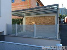 Bezúdržbové hliníkové zastřešení garážového stání pro auta
