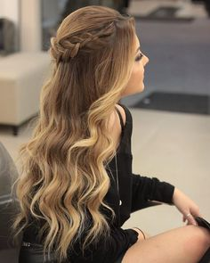 hairstyles for 8 year olds to cornrows braided hairstyles hairstyles black women hairstyles buns hairstyles black girl hairstyles guide hairstyles for 13 year olds hairstyles to the side Girly Hairstyles, Prom Hairstyles For Long Hair, Indian Wedding Hairstyles, Braids For Long Hair, Down Hairstyles, Wavy Hair, Braided Hairstyles, Hairstyles For Dances, Curls Hair