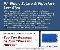PA Elder, Estate & Fiduciary Law Blog - Click to visit blog:  http://1.33x.us/ItRuT8