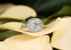 brilliant earth antique-style halo diamond engagement ring