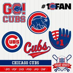 Chicago Cubs SVG Chicago Baseball Clipart Chicago Baseball