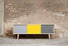 Enfilade meuble TV esprit vintage, Création Gentlemen Designers http://www.gentlemen-designers.fr