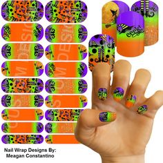 Jamberry Nails. Designs that last up to 2 full weeks on your hands! No dry time, no chipping, no smudging! Get your Halloween manicure now! To view more designs, or order, visit & join   https://www.facebook.com/groups/OutsideTheBoxCreations/  Or email me at: Megecon@Outlook.Com