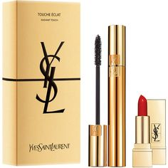 Yves Saint Laurent Luxurious Mascara Gift Set ❤ liked on Polyvore featuring beauty products, gift sets & kits, makeup and yves saint laurent
