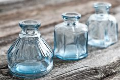 """Stumbled on a collection of 4 """"Green"""" antique glass ink wells in varying shapes at Uncommon Objects in Austin, TX. #score sitting here wondering what beautiful or sad letters they were privy to?"""