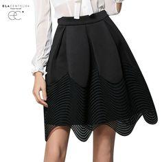 Elacentelha irregular saia de renda preta moda verão saias saia faldas saias oco assimetria hem onda princesa saias em Saias de Das mulheres Roupas & Acessórios no AliExpress.com | Alibaba Group