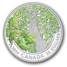 Canada Post - 2014 $20 Pure Silver Coin- Maple Canopy